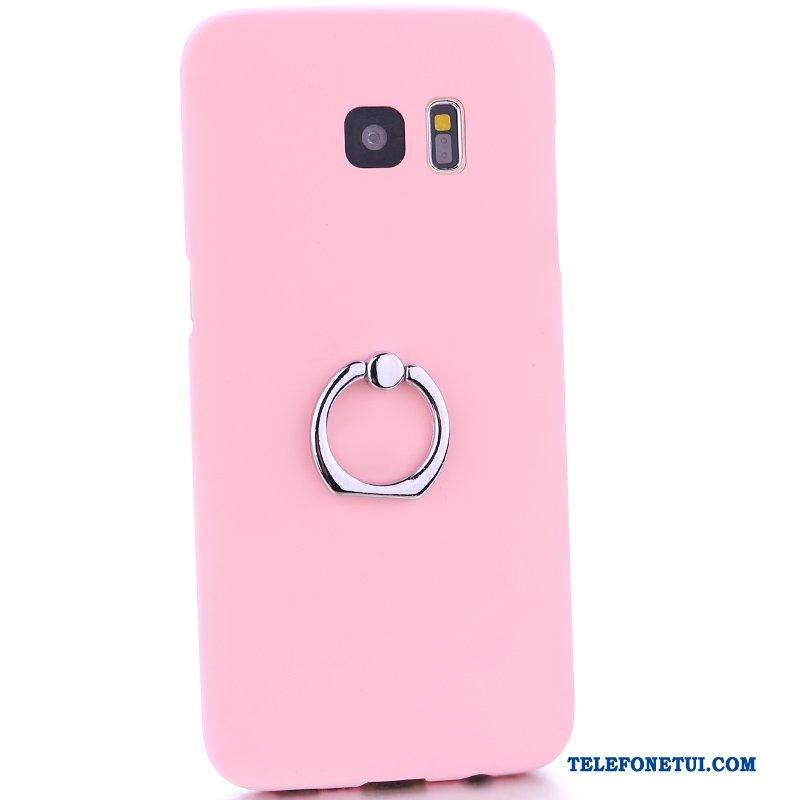 Futerał Dla Samsung Galaxy S6 Edge + Trudno Nubuku Wspornik Różowe Etui Na  Telefon fb337d402868